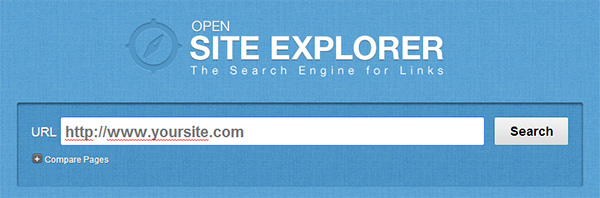 use opensiteexplorer to scan domain