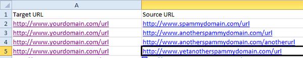 link detox spreadsheet